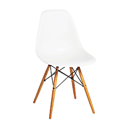 Chaise Eames DSW blanche Vitra