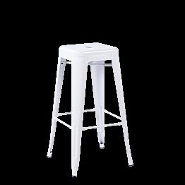 Tabouret industriel blanc H 76 cm