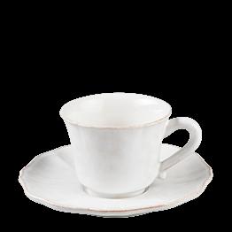 Tasse et sous-tasse à café Romance 9 cl