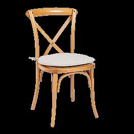 Chaise Saint-Rémy avec coussin écru