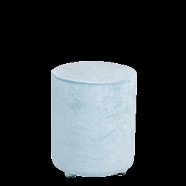 Pouf velours bleu aqua Ø 40 cm H 48 cm
