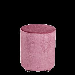 Pouf velours vieux rose Ø 40 cm H 48 cm